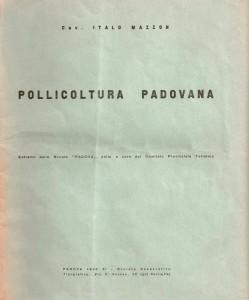 Foto 8 Pollicoltura padovana di Italo Mazzon copertina 1932