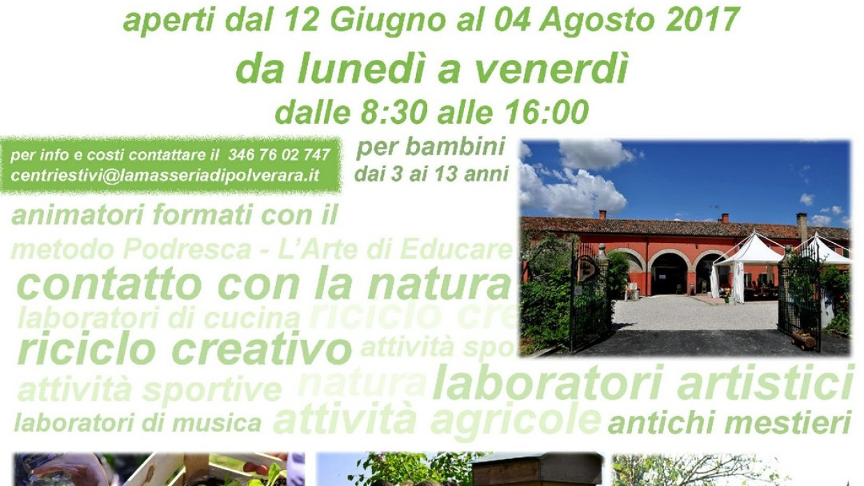 Centri Estivi 2017: In Masseria per una settimana immersi nel verde