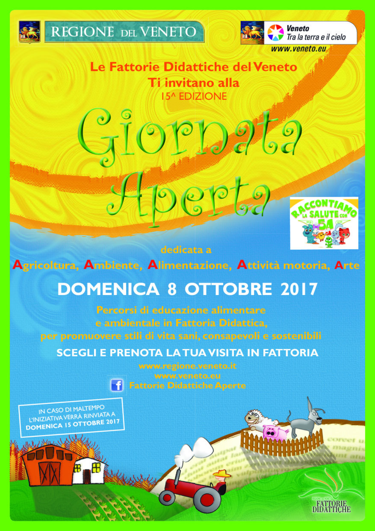 Fattorie didattiche del Veneto: giornata aperta domenica 8 ottobre