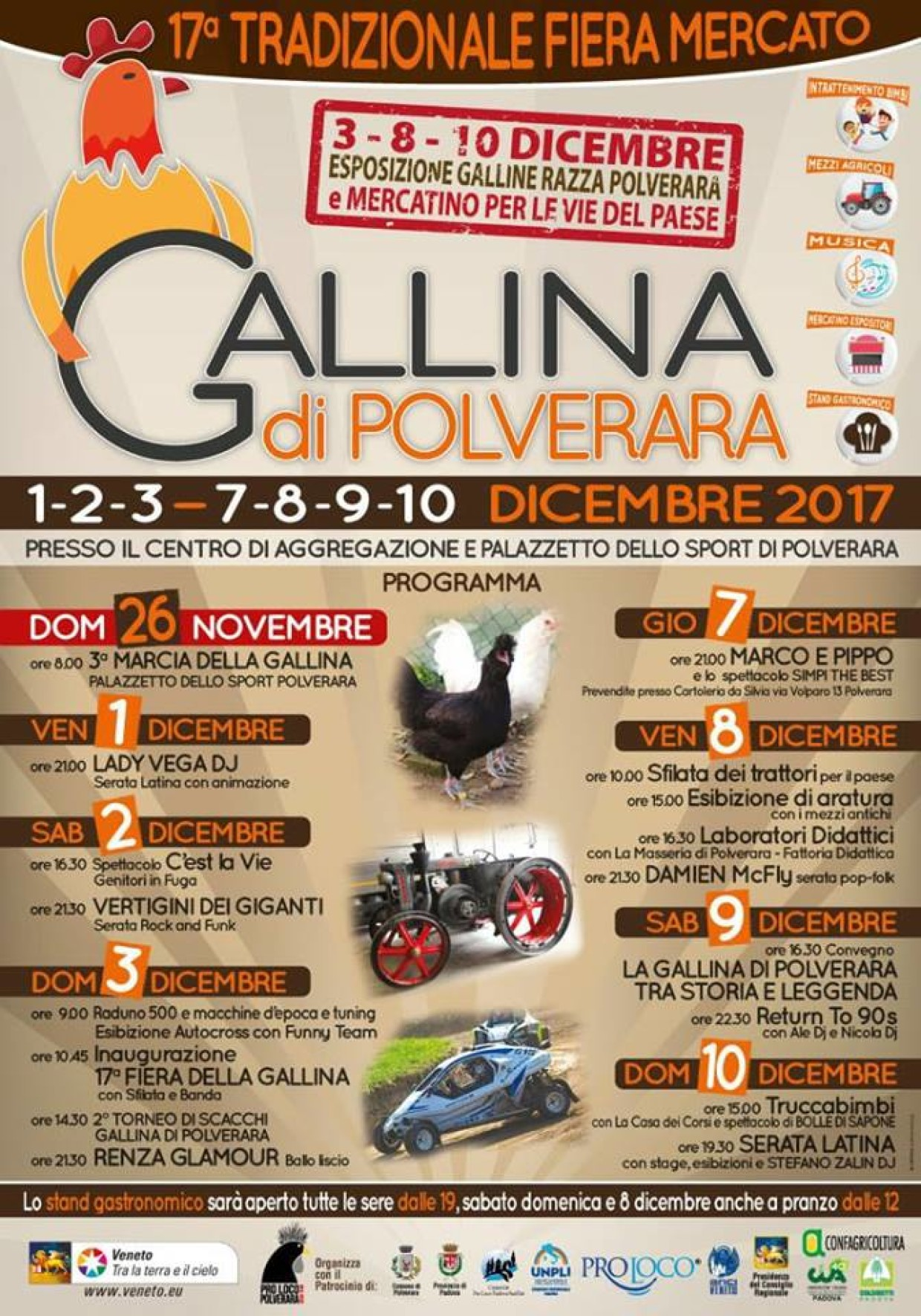 FIERA MERCATO DELLA GALLINA DI POLVERARA Ed. 2017: NON SI ESPONGONO VOLATILI