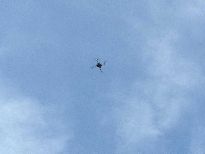 Effettuato il rilievo con i droni, finalmente li abbiamo visti volare!