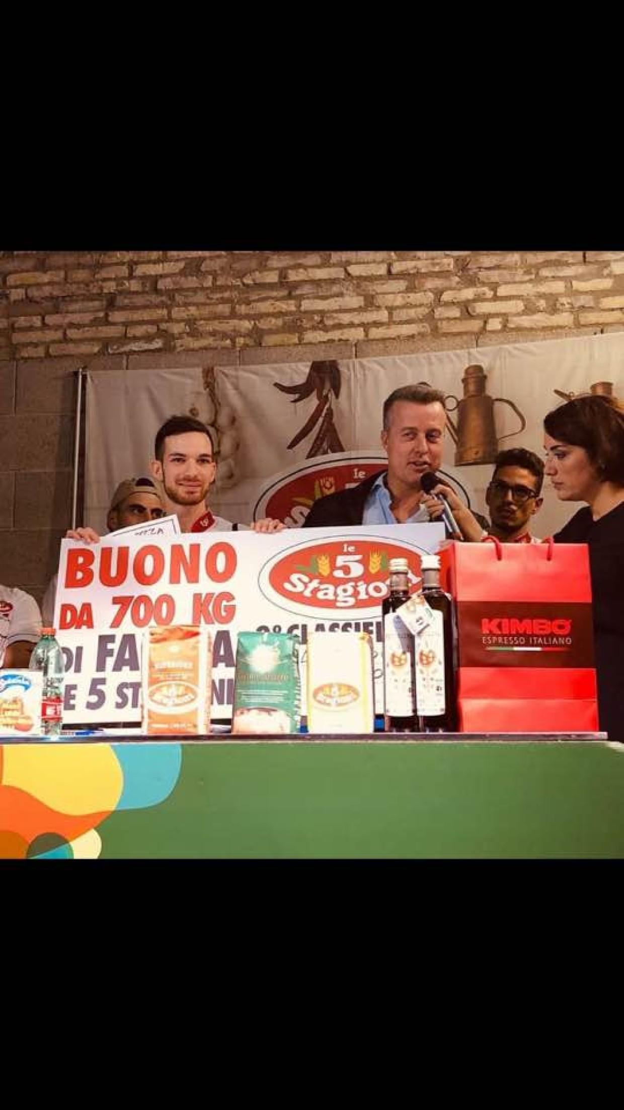 Quando le passioni si uniscono: Miglior topping nel concorso piazzaiolo emergente 2018. Bravo Alessandro!