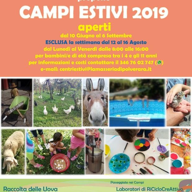 Settimane Verdi – centri estivi in Masseria 2019