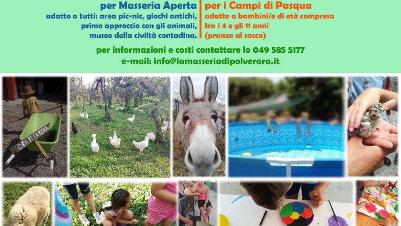 Pasqua in Masseria: Perchè no? 18-19-23-24 Aprile siamo aperti