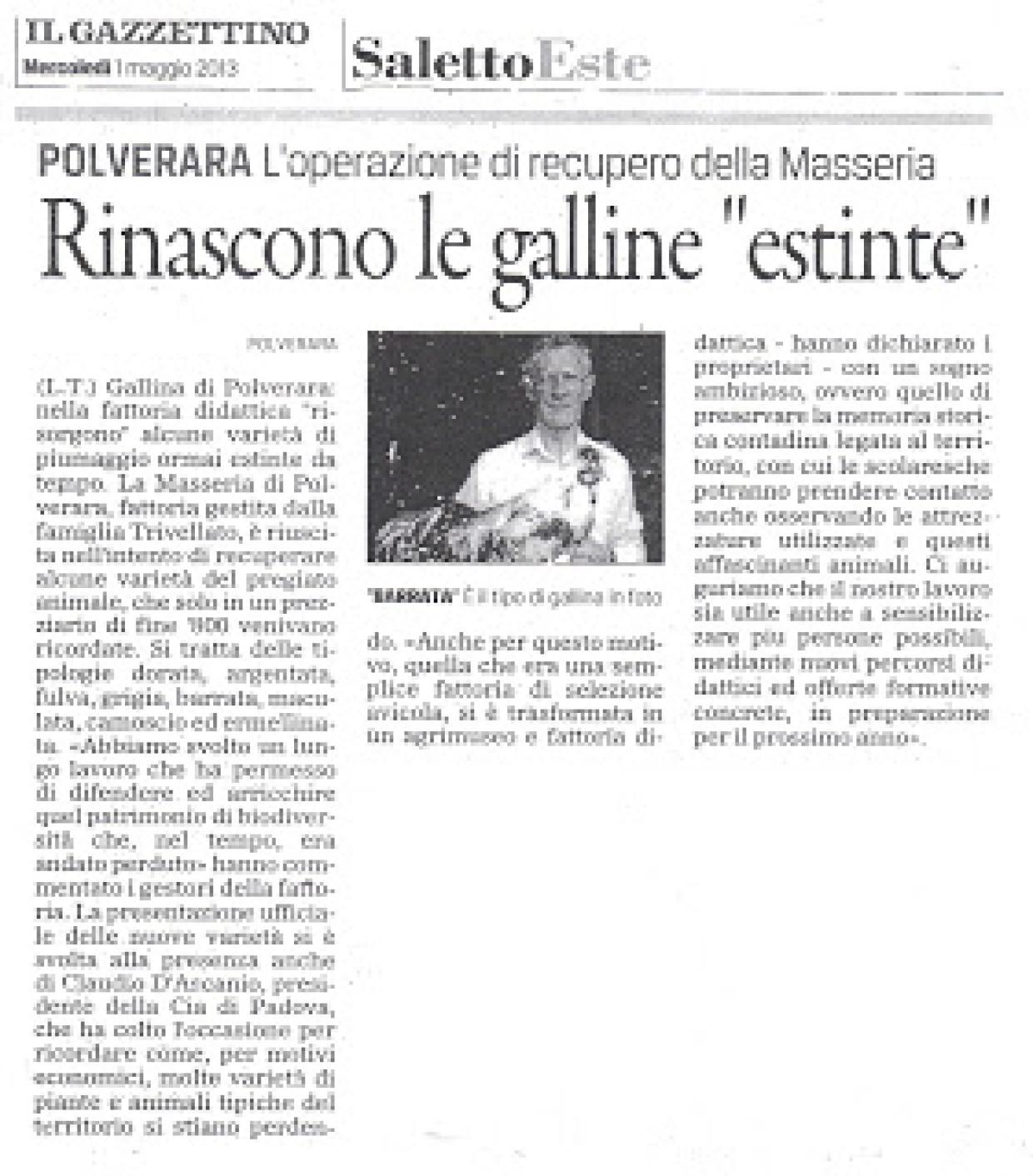 Conferenza stampa nuove varietà della Gallina di Polverara