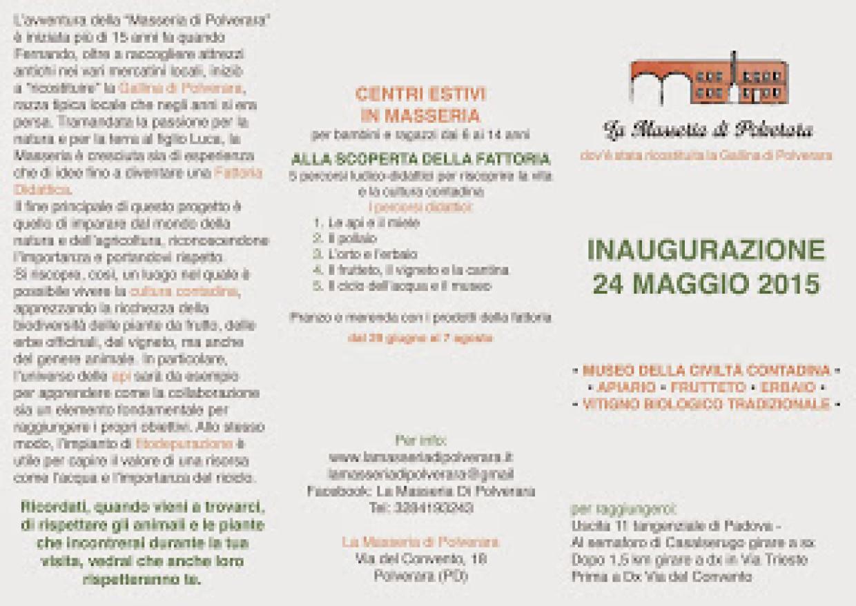 Domenica 24 Maggio: Inaugurazione!