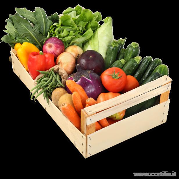 Cassetta di verdure miste media la masseria di polverara - Immagine di frutta e verdura ...