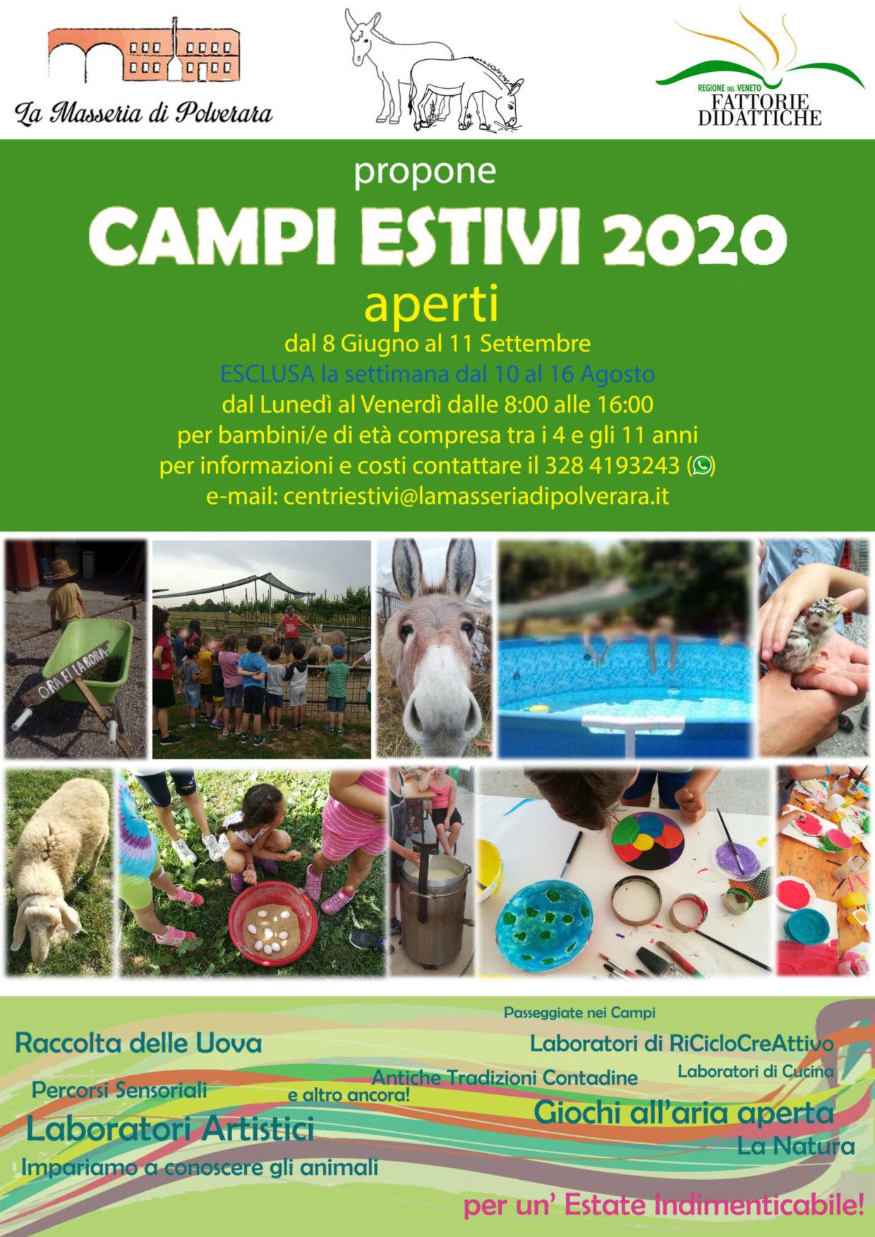 Centri Estivi 2020 – Prenotazioni